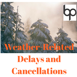 Weather Delay Cancellation Logo