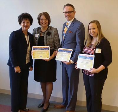 Dr. Linda Hippert, Nancy Aloi, Charles Youngs and Katherine Meucci
