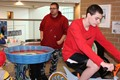 The BPHS student-built Spin Art Bike