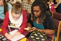BPHS students work together on Math Regression activity