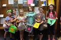 Lincoln students with their Paz purses