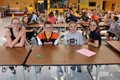IMS students build towers with spaghetti and marshmallows