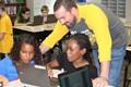 NAMS Fifth Grade Teacher Joe Rosi and his students