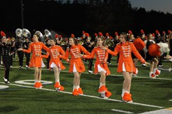 The Majorettes at the Marching Band Festival