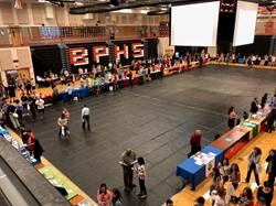 College Fair set up in BPHS Gymnasium