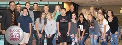PACS students who coordinate the Central Blood Bank Blood Drives