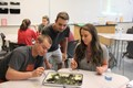 BPHS Science students work on a stream analysis experiment