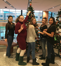 BPHS students decorate a Christmas tree with the ornaments they made