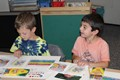 Memorial kindergarten students read with Miss A