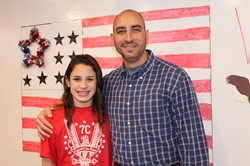Grace Lejeck and her Veteran father, Dennis