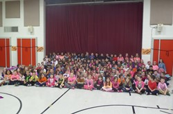 William Penn staff and students in pink for this year's Pink Out to support breast cancer research