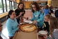 IMS students with their delivered pizza