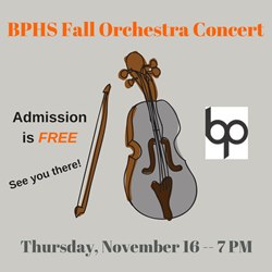 Fall Orchestra Concert Logo
