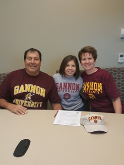 Christina Zeher and her parents