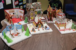 The gingerbread creations