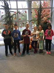 Memorial Third Graders with a copy of A Student's Dictionary
