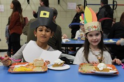 Students enjoy the Thanksgiving Feast
