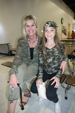 Staff and students dressed up for Camo Day