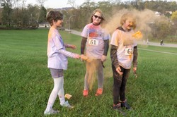 Having fun at the Color Run