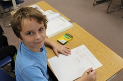 Franklin students make visual examples of multiplication concepts