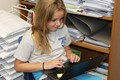Students research inventions on Chromebooks