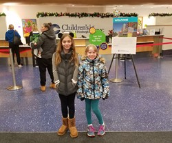 Riley and Gianna at Children's Hospital