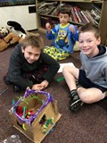 Students make a Pet Rock Fun House