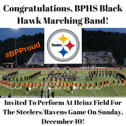 Marching Band at Steelers game logo