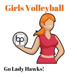 Girls Volleyball Logo