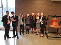 Forensics competitors at the North Catholic tournament