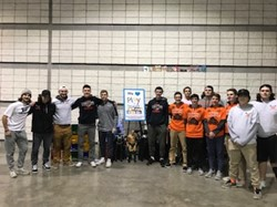 BPHS Boys Lacrosse helping out at Play It Forward