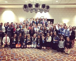 BPHS DECA students who competed at the District competition