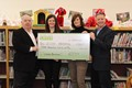 The Bethel Park Community Foundation presents a check to the Memorial Library