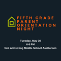 Fifth Grade Parent Orientation Scheduled May 30 image