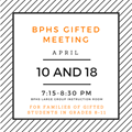 Gifted Parent Meeting Scheduled For April 10 And 17 image
