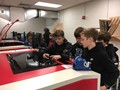 NAMS Gifted Students look at equipment at CMU