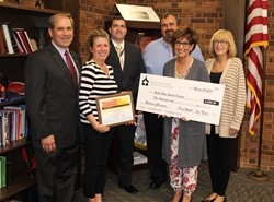 The School Board recognizes the Wellness Committee at a School Board Meeting