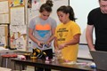 Students participate in a robotics exercise on Career Day