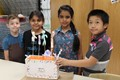 Memorial Third Graders create Seussical puppet theaters