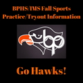 Fall Sports Practice/Tryout Information image