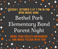 Elementary Band Parent Night Logo