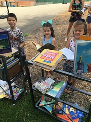 Students have fun at the Pop Up Libraries at all BP Elementary Schools
