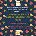 Elementary Strings Parent Information Night Logo