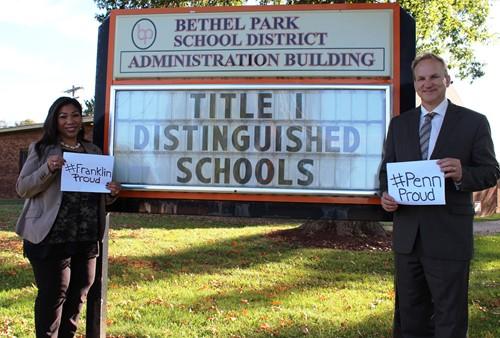 Franklin Principal Teresa Doumont and Penn Principal Brian Lenosky