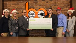 BPCF Board Members present a check to BPSD Administrators