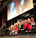 First Graders performing at the Sing-A-Long