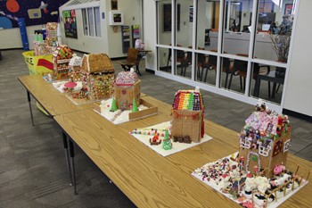 The six 2018 Gingerbread House Contest entries