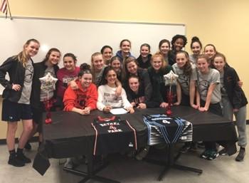 Maria Cerro and the BPHS Girls Basketball Team
