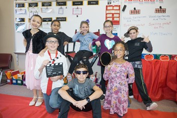 Eight Franklin students dressed up for Hollywood Dress Up Day