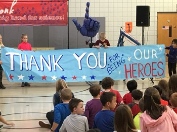 Thank You Banner for the Veterans